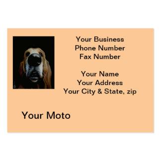 Close Up Dog Business Card