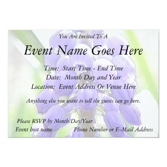 Close Up - Grape Hyacinth Card