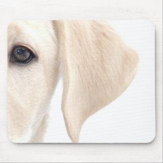 Close-up Half Face of Yellow Labrador Mouse Pad