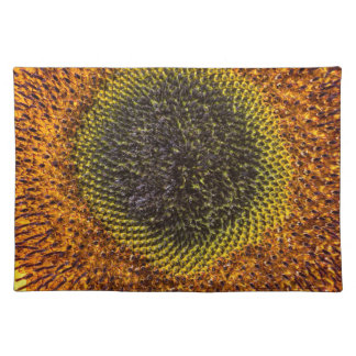 Close up heart of sunflower placemat