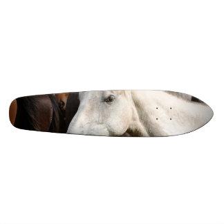 Close-up herd of horses skateboard deck