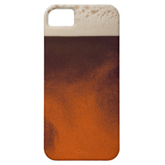Close up image of amber colored beer with frothy barely there iPhone 5 case