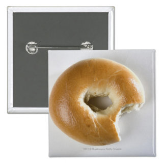 Close-up of a bagel 15 cm square badge