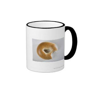 Close-up of a bagel ringer mug