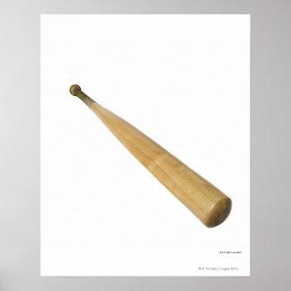 Close up of a baseball bat poster