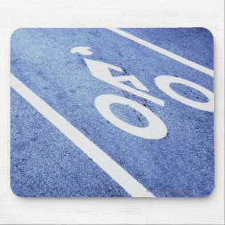 Close-up of a bicycle sign on the road mouse pad