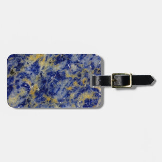 Close up of a Blue Sodalite Bag Tag