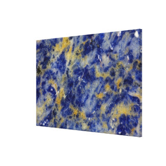 Close up of a Blue Sodalite Canvas Print