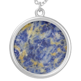 Close up of a Blue Sodalite Silver Plated Necklace