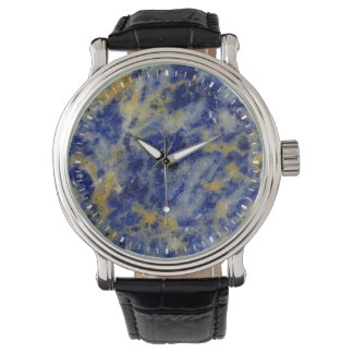Close up of a Blue Sodalite Watch