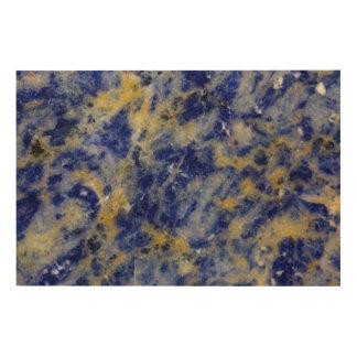 Close up of a Blue Sodalite Wood Print