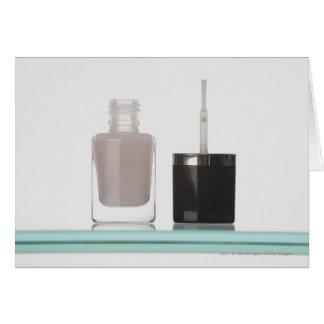 Close-up of a bottle of nail polish greeting card