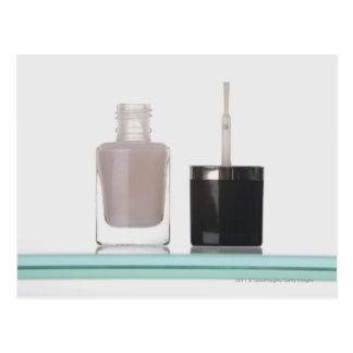 Close-up of a bottle of nail polish postcard