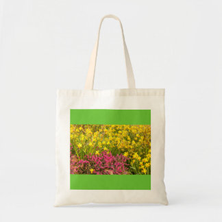 close-up of a coloured flowering on jumbo tote