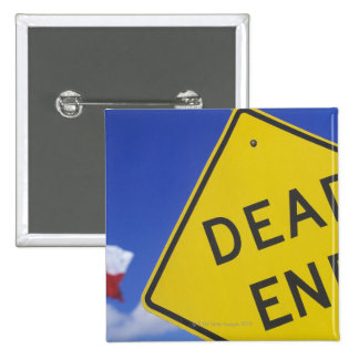 Close-up of a dead end sign Texas USA Buttons