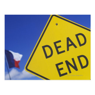 Close-up of a dead end sign, Texas, USA Postcard