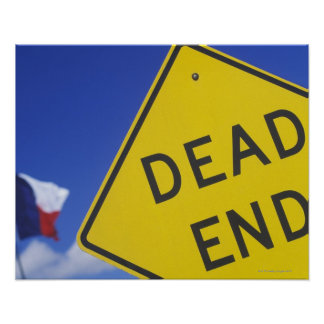 Close-up of a dead end sign, Texas, USA Posters