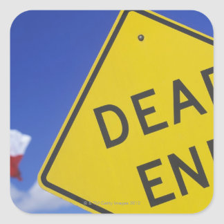 Close-up of a dead end sign, Texas, USA Square Sticker