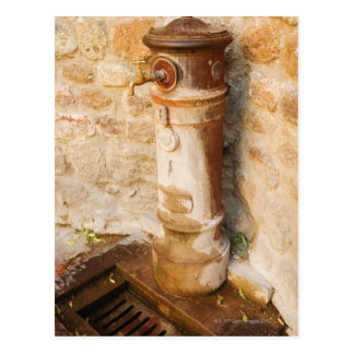 Close-up of a faucet, Siena Province, Tuscany, Postcard