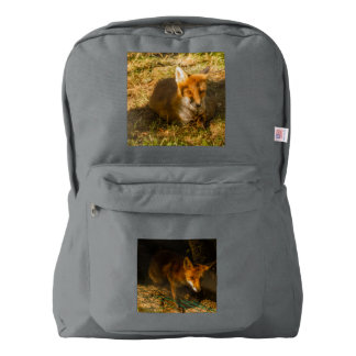 close-up of a fox  on American Apparel™ Backpack