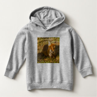 close-up of a fox on Toddler Pullover Hoodie