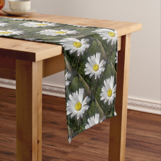 Close Up of a Marguerite Daisy Flower Short Table Runner