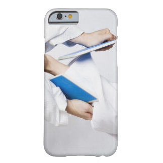 Close-up of a person's leg breaking a tile barely there iPhone 6 case