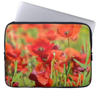 Close-up of a Poppy field, France Laptop Sleeve