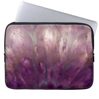 Close up of a purple Amethyst Laptop Sleeve