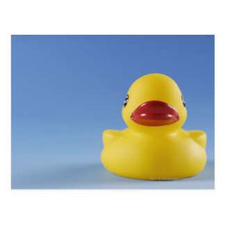 Close-up of a rubber duck postcard