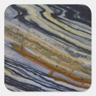 Close up of a Striated Jasper Slab Square Sticker