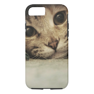 Close up of a tabby cats eyes iPhone 7 case