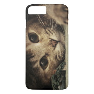 Close up of a tabby cats eyes iPhone 7 plus case