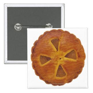 Close-up of a tart 15 cm square badge