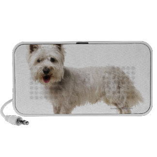 Close up of a terrier iPhone speaker