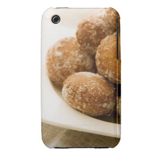 Close-up of a tray of a baked sugar coated iPhone 3 cases