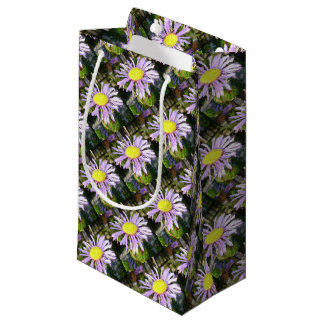 Close Up of A Violet Aster Flower Spring Bloom Small Gift Bag