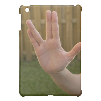 Close-up of a woman's hand making a hand sign iPad mini covers