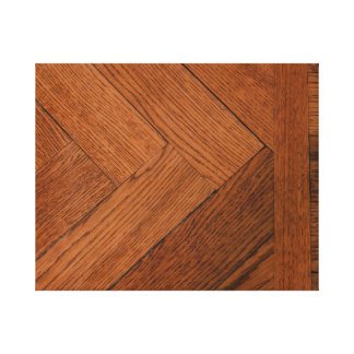 close-up of a wood parquet on canvas print