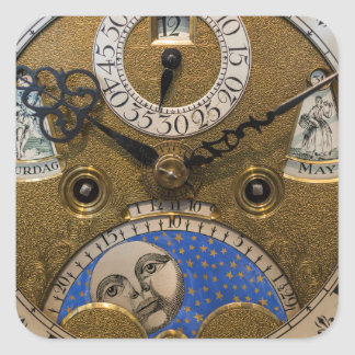 Close up of an old clock, Germany Square Sticker