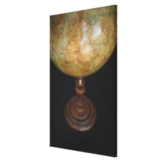 Close-up of antique globe 2 stretched canvas print