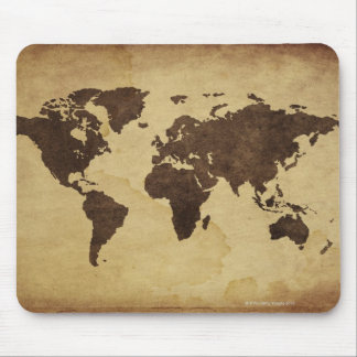 Close up of antique world map 3 mouse pad