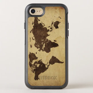 Close up of antique world map 3 OtterBox symmetry iPhone 7 case