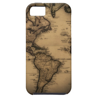 Close up of antique world map iPhone 5 cases
