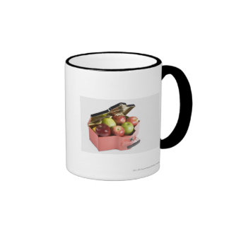 Close-up of apples in a box ringer coffee mug