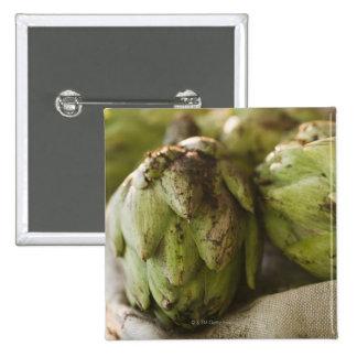 Close up of artichoke 15 cm square badge