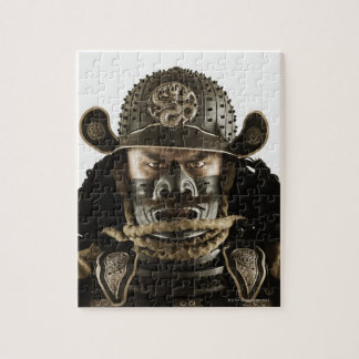 Close up of Asian man in samurai armor Jigsaw Puzzle