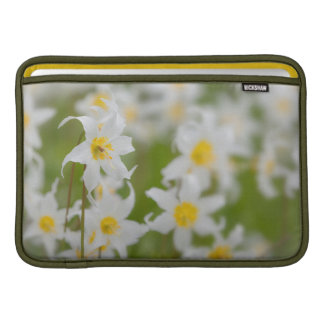 Close-up of avalanche lilies sleeves for MacBook air