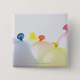 Close-up of balloons 15 cm square badge