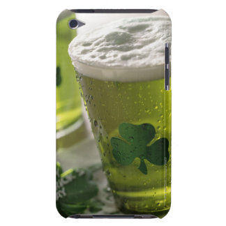 Close up of beverages with shamrocks on glass iPod Case-Mate cases